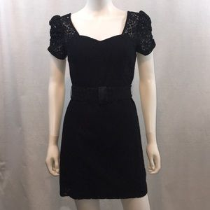 UEC Guess Black lace dress with belted waist